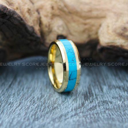 Turquoise Ring, Turquoise Wedding Band
